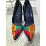 Chic African print Kente Stilleto