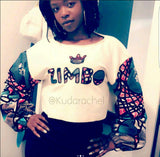 'BOSS' African print crop top jumper (customisable)
