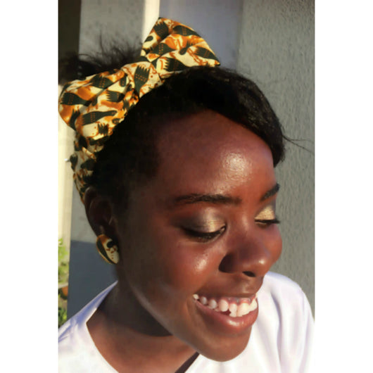 Gold hunter's feet bow headband