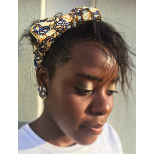 Three leaves Afroprint headband