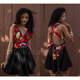 African print mini Infinity dress (can be worn more than 5 ways!)