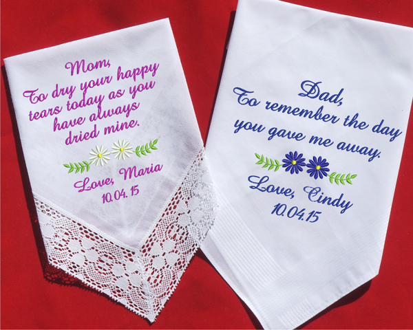 Unique Wedding Gifts Perth : Father of the Bride Handkerchief, Father of the Groom