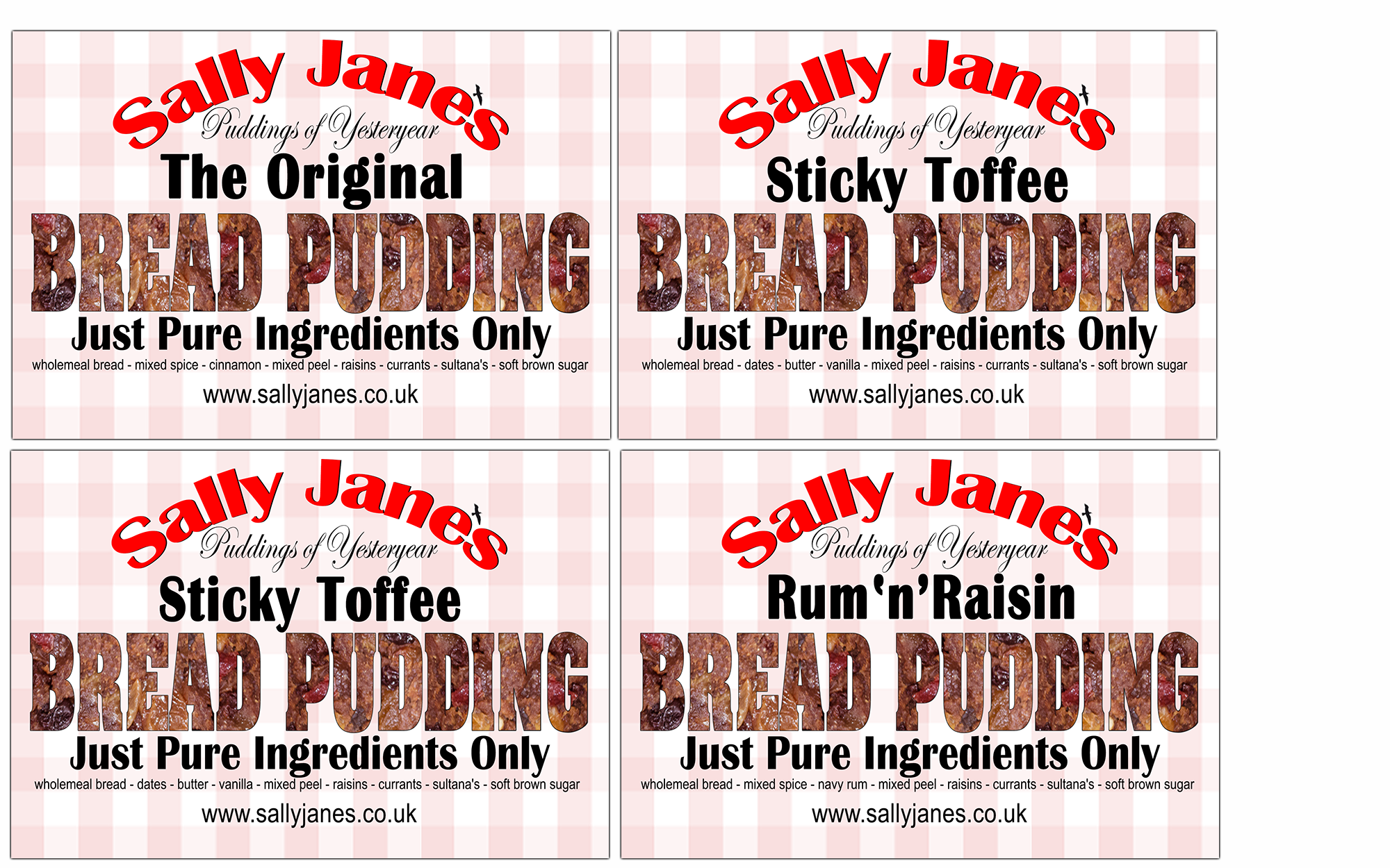 Bread Pudding Flavours