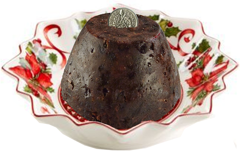 Sally Jane's Christmas Pudding with Lucky Silver threepenny