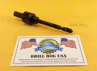 Drill Hog Hole Saw Arbor Holesaw Mandrel Adapter Chuck for 9/16~1-1/8 Hole Saws