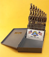 21 Pc COBALT M42 Drill Bit Set Cobalt Drill Set Drill Hog USA Lifetime Warranty