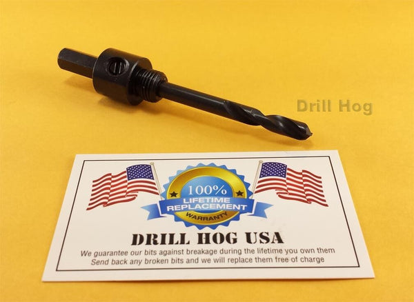 Drill Hog Hole Saw Pilot Bit Fits Hole Saws Pack of 3 Lifetime Warranty