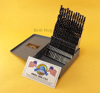 Drill Hog USA 60 Pc NUMBER Drill Bit Set Wire Gauge Drill Set Lifetime Warranty