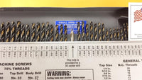Drill Hog 116 Pc Drill Bit Set Letter Number SAE MOLYBDENUM M7 Lifetime Warranty