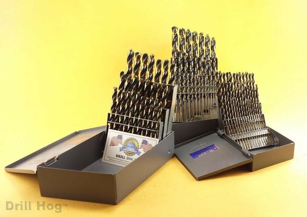 Drill Hog 115 Pc Master Drill Bit Set 3 Cases Letter Number M7 Lifetime Warranty