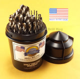 "Drill Hog 29 Pc Drill Bit Set Niobium 1/16""-1/2"" Lifetime Warranty MADE IN USA"