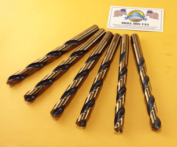 "Drill Hog USA 29/64"" Drill Bit 29/64"" Molybdenum M7 Lifetime Warranty 6 Pack"