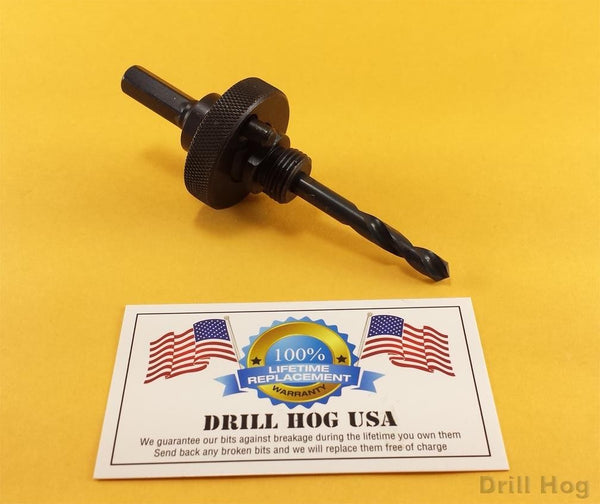 "Drill Hog Hole Saw Arbor Holesaw Mandrel Adapter Chuck for 1-1/4 to 6"" Hole Saws"