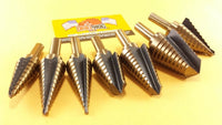 7 Pc Step Drill Bit Set Step Bit Molybdenum UNIBIT Lifetime Warranty Drill Hog