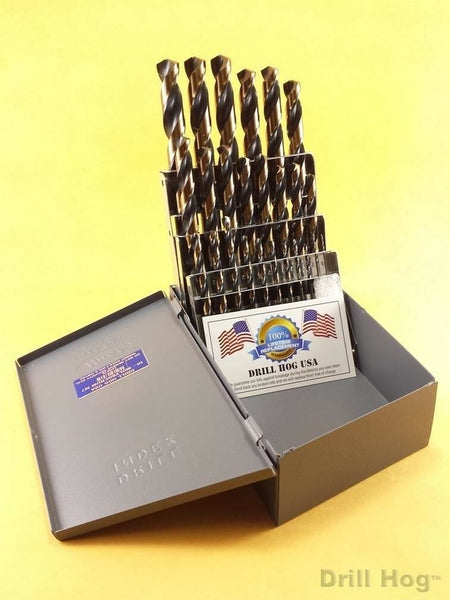 Drill Hog USA 25 Pc Metric HI-Molybdenum M7 Drill Bit Set MM Lifetime Warranty