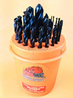 "29 Pc Drill Bit Set 1/16"" to 1/2"" Super Pig Steel+ Lifetime Warranty Drill Hog®"