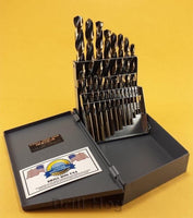 Drill Hog USA 21 Pc Drill Bit Set Hi-Molybdenum M7 MOLYBDENUM Lifetime Warranty