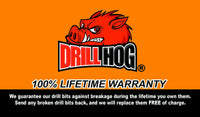 "Drill Hog 1-7/16 Drill Bit 1-7/16"" Silver & Deming Bit Lifetime Warranty"