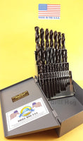 "Drill Hog USA 29 Pc Drill Bit Set Pig Steel M60 1/16""-1/2"" Lifetime Warranty"