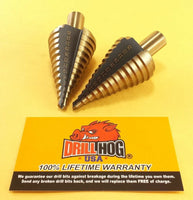 Metric Step Bit 6-35 MM Step Drill UNIBIT M7 Drill Hog 2 Pack Lifetime Warranty
