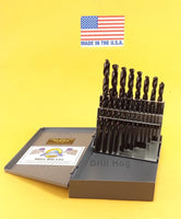 21 Pc Drill Bit Set index Pig Steel M60 Lifetime Warranty Drill Hog MADE IN USA