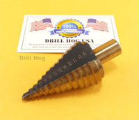 Drill Hog USA 6-35mm Metric Step Drill Bit MM UNIBIT M7 Lifetime Warranty