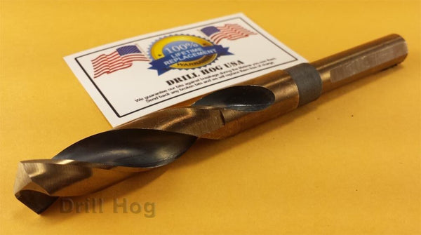 "Drill Hog 27/32"" Drill Bit 27/32"" Silver & Deming Bit M7 HSS Lifetime Warranty"