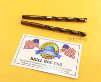 "19/64 Drill Bit 19/64"" Sizes Molybdenum M7 HSS Twist Drill Hog Lifetime Warranty"