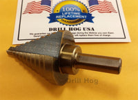 "Step Drill 1/4""-1-3/8"" Molybdenum Uni Bit Reamer Lifetime Warranty Drill Hog"
