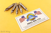 #7 Pilot Bit 1/4 Starter Bit #7 Countersink 5 Pack Warranty Drill Hog USA