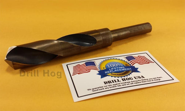 "Drill Hog 7/8"" Drill Bit 7/8"" Silver Deming Bit Cobalt HSS Lifetime Warranty"