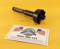 "DrillHog USA 1-3/8"" Self Feed Bit Wood Hole Saw 1-3/8 Forstner Lifetime Warranty"