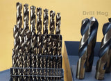 "Drill Hog USA 37 Pc Cobalt Drill Bit Set Index M42 1/16"" - 1"" Lifetime Warranty"