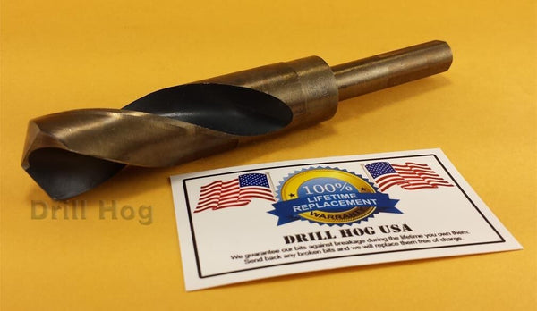 "Drill Hog 15/16"" Drill Bit 15/16"" Silver Deming Bit Cobalt HSS Lifetime Warranty"