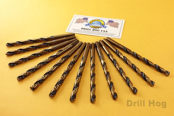 "DrillHog USA 1/16"" Drill Bit 1/16 HI-Molybdenum M7 HSS Lifetime Warranty 12 PACK"