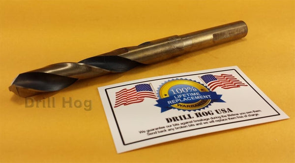 "Drill Hog 9/16"" Drill Bit 9/16"" Silver & Deming Bit Cobalt HSS Lifetime Warranty"