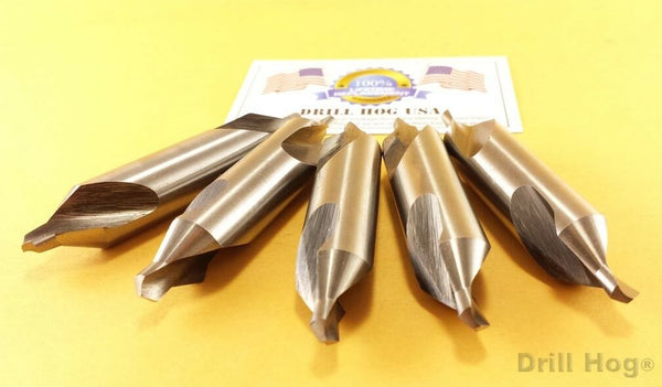 "#1 Center Drill 3/64"" Countersink Pilot Bit 5 Pcs Lifetime Warranty Drill Hog"