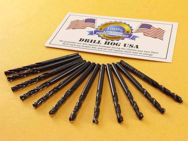 1/8 Stubby Bit Machine Screw Length Stub Bit Drill Hog USA Life Warranty 12 Pcs