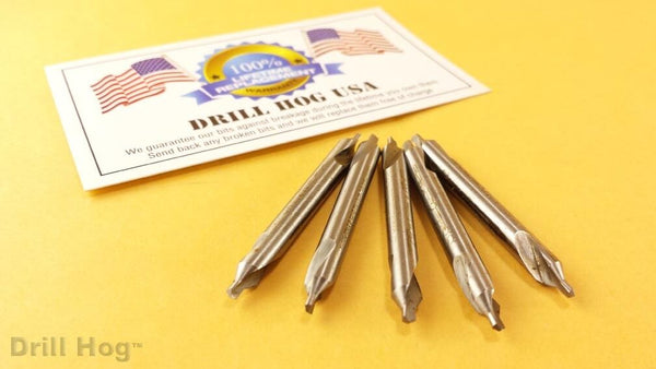 #2 Pilot Bit Starter Drill 5/64 Countersink #2 Bit 5 Pack Warranty Drill Hog USA