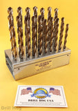 26 Pc Letter Drill Bit Set A-Z Bits NIOBIUM Lifetime Warranty DrillHog USA MADE