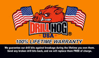 "Drill Hog USA 21/64"" Drill Bit 21/64 Molybdenum M7 Lifetime Warranty 6 Pack"