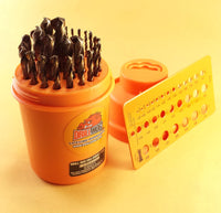 29 Pc Cobalt Drill Bit Set Super Cobalt M42+ Plus Series Drill Hog® Special