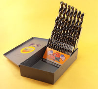 Drill Hog® 29 Pc HI-Molybdenum Drill Bit Set MOLY M7 Drills Lifetime Warranty