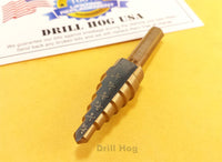 "3/16""-1/2"" Step Drill Bit HI-Molybdenum M7 Lifetime Warranty Drill Hog®"