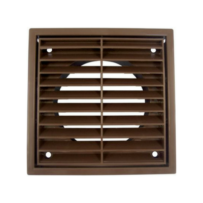 "100mm (4"") PVC Fixed Grille Brown"
