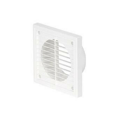 "100mm (4"") PVC Fixed Grille White"