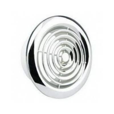 "100mm (4"") PVC Round Grille Chrome"