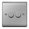BG Nexus Metal 2 Gang 2 Way Dimmer Switch