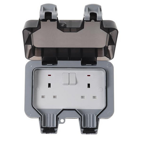 BG Nexus Storm Weatherproof 13a 2 Gang Switched Socket