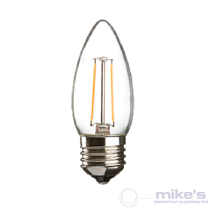 ML Accessories Knightsbridge LED Filament Candle 2W Lamp